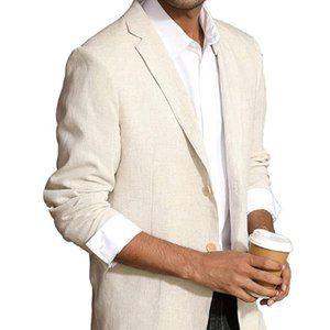 Other - Men's Slim Fit Lightweight Linen Jacket Tailored
